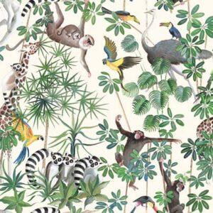 Tissu thème jungle exotique