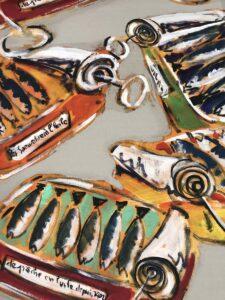 Panneau mural en tissu