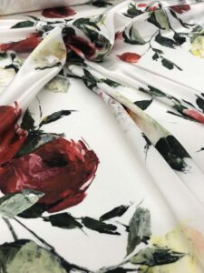 Tissu en soie haute couture