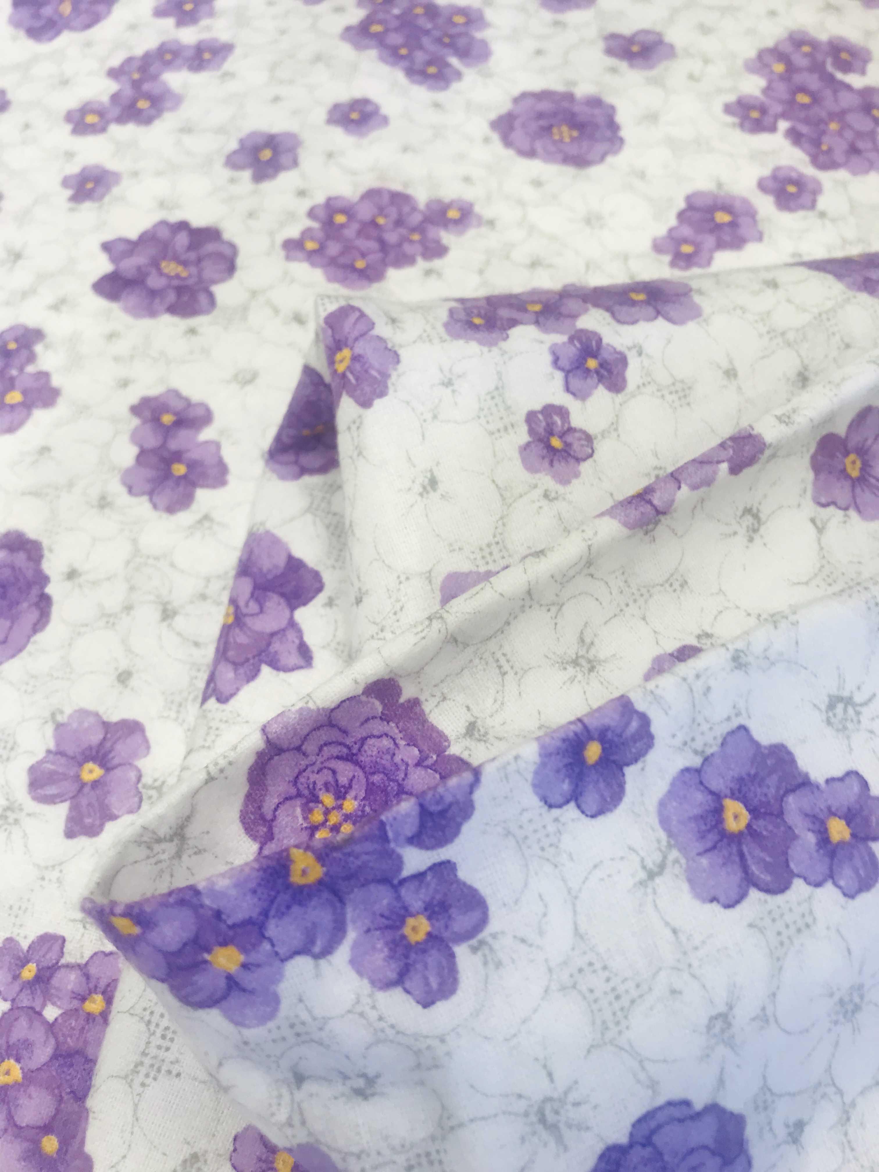 Tissu au mètre roses Points Lilas Coton costumes Tissu Fleurs Tissu