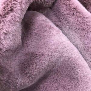 """Tissu fausse fourrure """"Lapin"""" - Violet"""