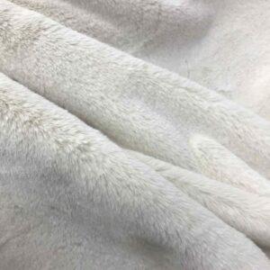 """Tissu fausse fourrure """"Lapin"""" - Écru"""