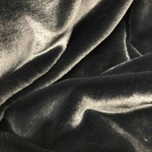 "Tissu fausse fourrure ""Lapin"" - Noir"