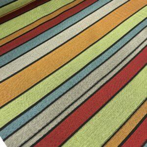 Jacquard d' ameublement à rayures - Multicolore n°1