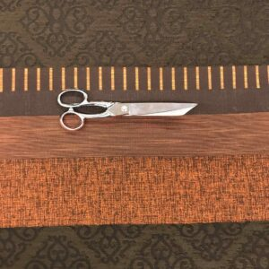 "Tissu jacquard ""Elsy"" - Orange, marron"