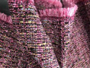 tissu chiné toscane rose